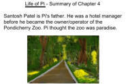 Life of Pi - Summary of Chapter 4